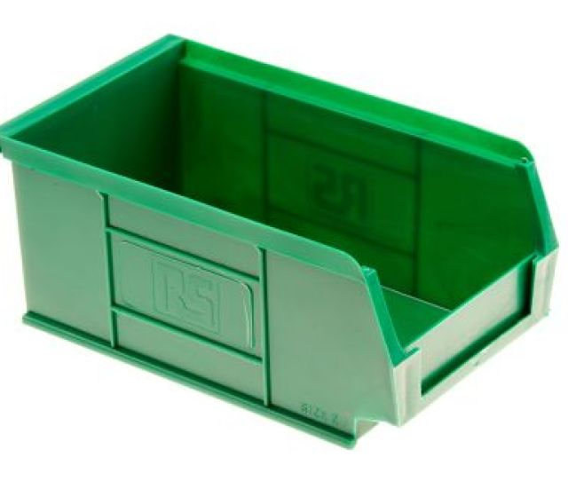 011722 Rs Pro Rs Pro Green Plastic Stackable Storage Bin 76mm X 101mm X 167mm 484 4012 Rs Components