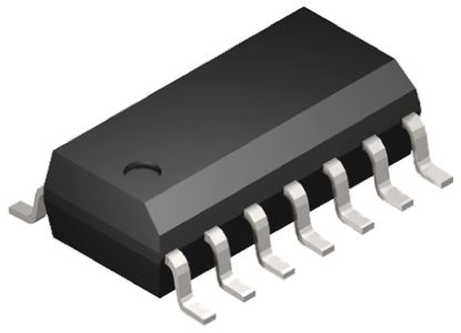 74VHCT Family, ON Semiconductor 74VHCT Family Maximum Propagation Delay Time @ Maximum CL: 16 ns@ 50 pF. Maximum Operating Temperature: +125 °C. Length: 8.75mm. Number of Element Inputs: 4. Maximum Low Level Output Current: 25mA. Minimum Operating Supply Voltage: 2 V. Propagation Delay Test Condition: 50pF. Height: 1.5mm. Minimum Operating Temperature: -55 °C. Number of Elements per Chip: 4. Logic Family: HCT. Package Type: SOIC. Manufacturer: ON Semiconductor. Pin Count: 14. Mounting Type: Surface Mount. Dimensions: 8.75 x 4 x 1.5mm. Width: 4mm. Maximum Operating Supply Voltage: 5.5 V. Maximum High Level Output Current: -25mA., MPN: MC74VHCT125ADR2G