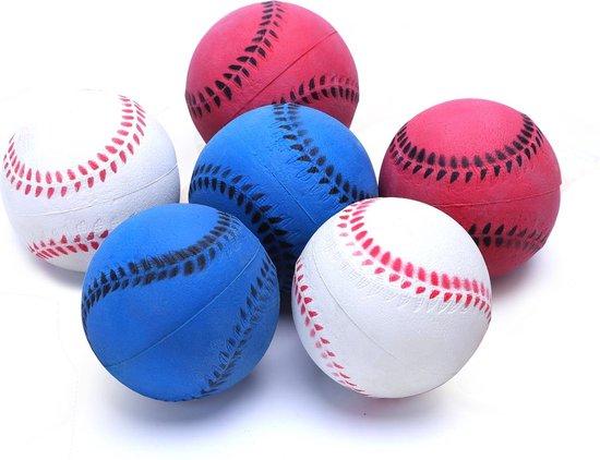 nobleza handballen hondenspeelgoed diverse kleuren o 7 2 cm set van 6 stuks