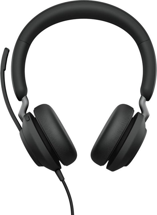 Jabra Evolve2 40, UC Stereo Headset Hoofdband USB Type-A Zwart