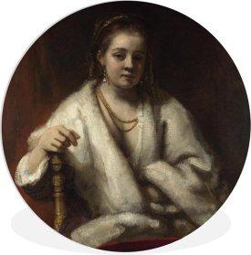 bol.com | Wandcirkel Rembrandt van Rijn - Hendrickje Stoffels - Schilderij  van Rembrandt van...
