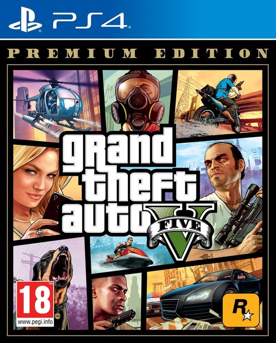 GTA V - (Grand Theft Auto 5) - Premium Edition - PS4