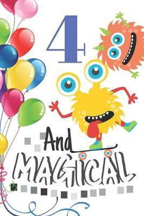 Bol Com 4 And Magical Happy Birthday Monster Sketchbook For Boys 4 Years Old Birthday Gifts