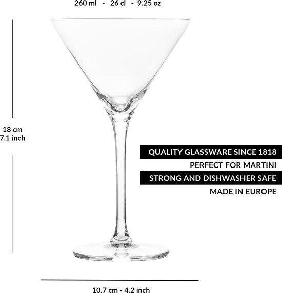libbey cocktailglas joya martini 260 ml 26 cl 6 stuks vaatwasserbestendig hoge kwaliteit elegant design perfect voor een cocktailfeest