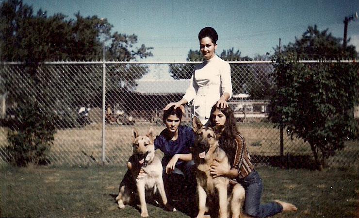 Genevieve Lucchesi with daughters Cathy and Rosemary. Her children said she experienced dark mood swings and violent outbursts, but her mental illness was a hushed topic.