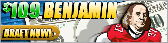 DraftDay NFL Week 3 Offer: Enter the $3,000 Drive and get a free entry to the $5k Grand Slam on Sep. 30th 3