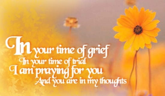 Praying For You ECard Free Sympathy Greeting Cards Online