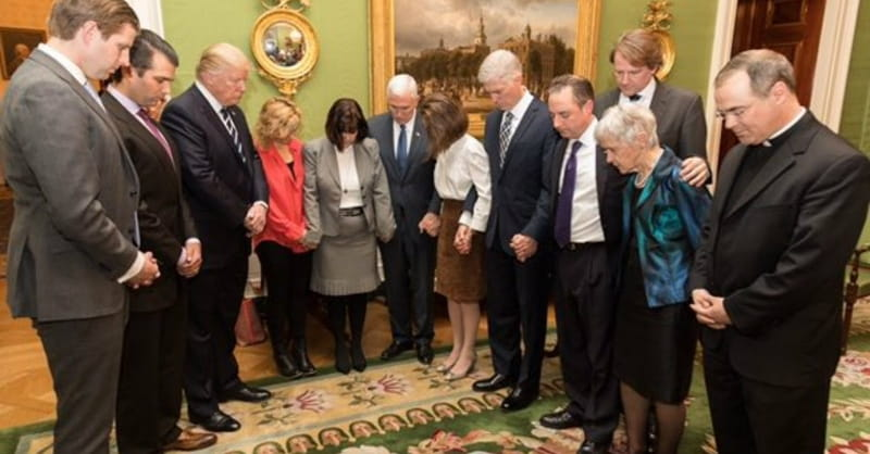 Image result for trump praying for forgiveness