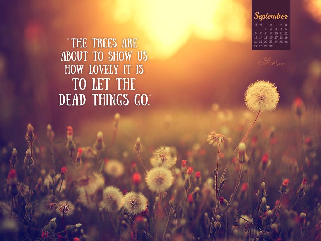 September 2015 - Let Things Go