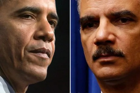 Barack Obama and Eric Holder