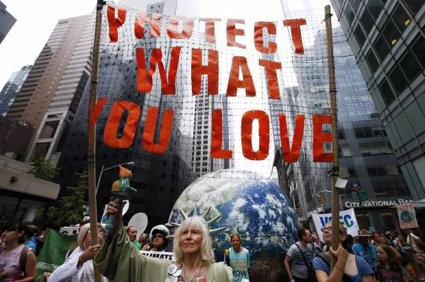 The best protest signs from New York's historic climate march