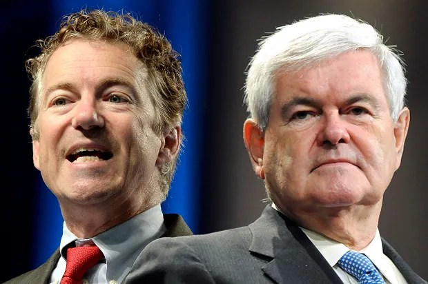 Rand Paul and Newt Gingrich