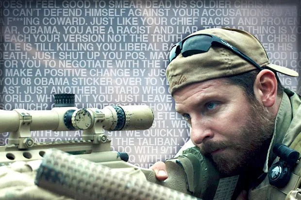 """""""My first impulse is to call you a dumb Obama ass-licking c**t"""": """"American Sniper"""" fans tell me off"""