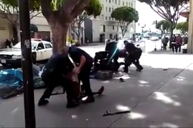Disturbing video shows LAPD fatally shooting homeless man