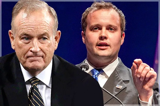 """Family values"" creeps have a tough week: Josh Duggar, Bill O'Reilly & the sickening hypocrisy of the sanctimonious right"