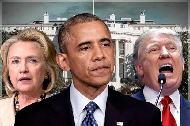 Afbeeldingsresultaat voor trump obama hillary