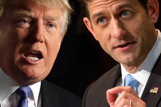 Image result for Images of Trump and Ryan