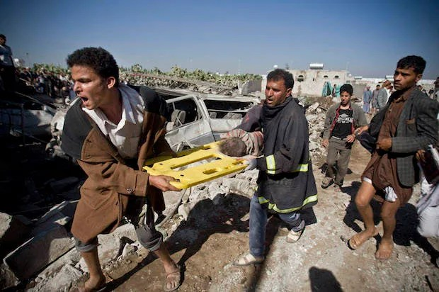 Despite 10,000 civilian casualties in Yemen — 13 per day — U.S. reaffirms support for Saudi Arabia