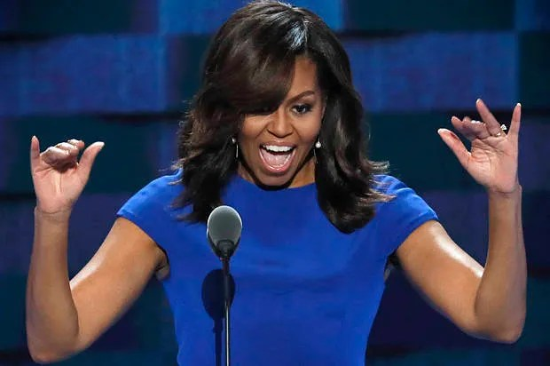 """Michelle Obama's dignified restraint: """"When they go low, we go high"""" are words to live by"""