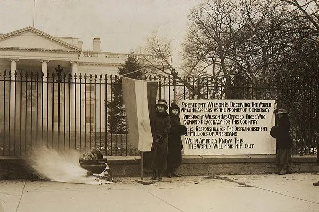 Women's suffrage protesters