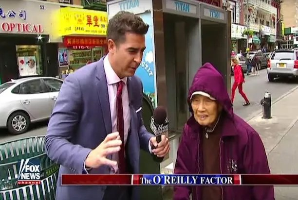 "WATCH: Fox News' Jesse Watters heads to Chinatown for incredibly offensive ""O'Reilly Factor"" segment"