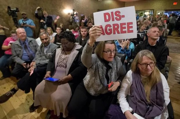 Republicans on recess hold town halls, are met with constituents angry about health care