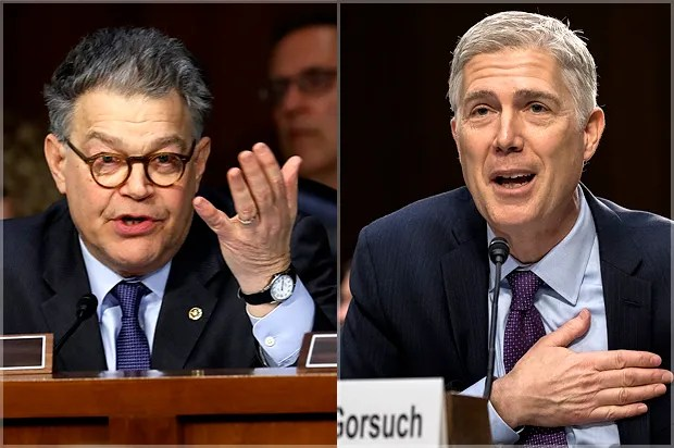 Image result for images of Frozen Truck and Gorsuch