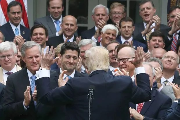 Image result for republicans celebrate with trump at white house today