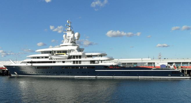 Roman Abramovich Yacht On San Diegos Embarcadero San