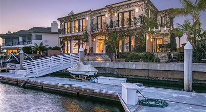 This Coronado Cays Beauty Has A Dock For The Super Yacht