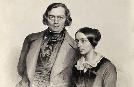 Clara and Robert Schumann.