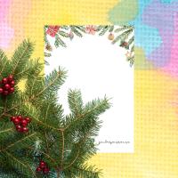4 skrivpapper med julmotiv