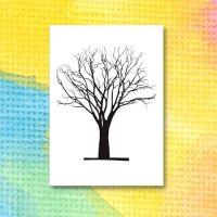 Mall för att sätta färg på ett träd