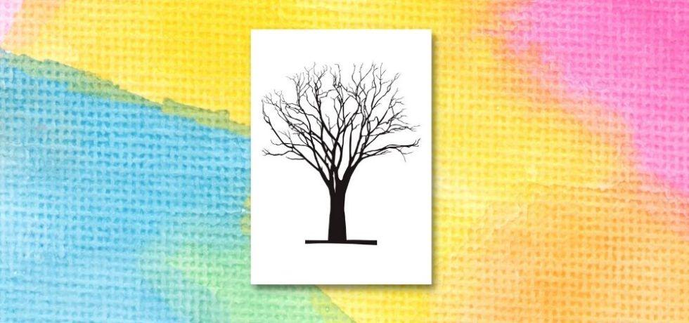 mall för att göra höstträd