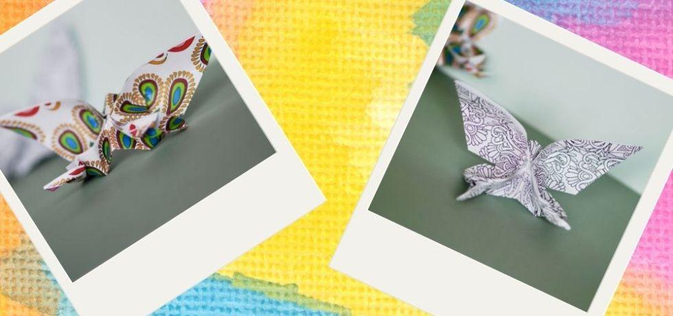 origami fjärilar