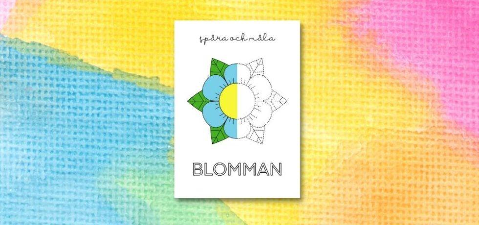 printable för att spåra och måla blomman
