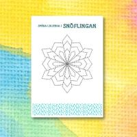 Printable för att spåra linjer i en snöflinga 8