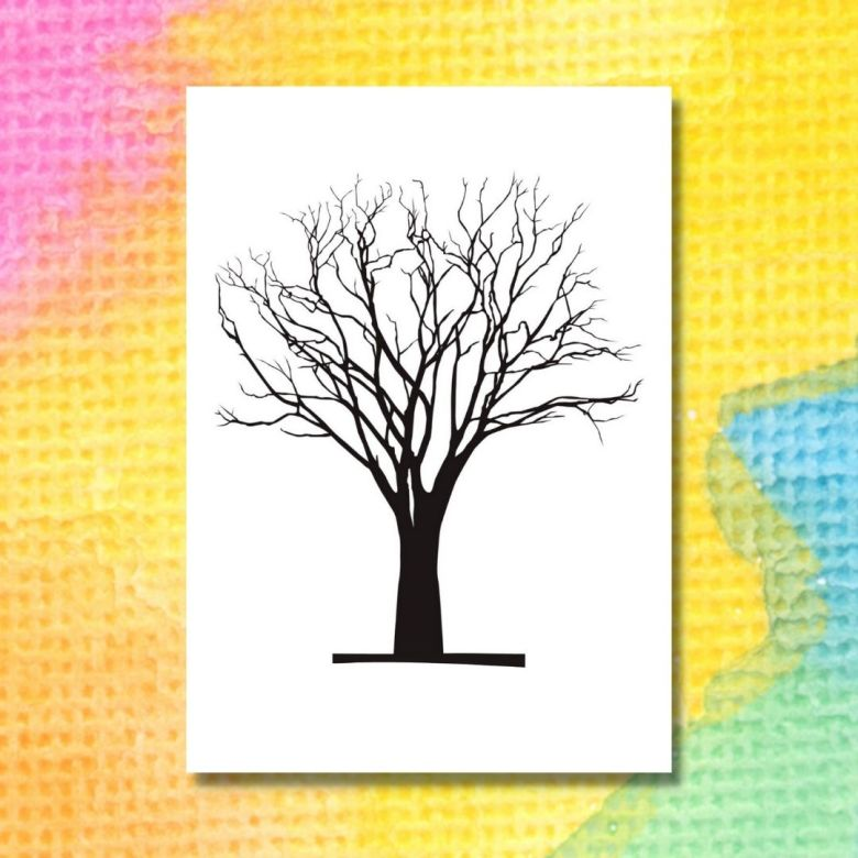 printable sätt färg på trädet printable