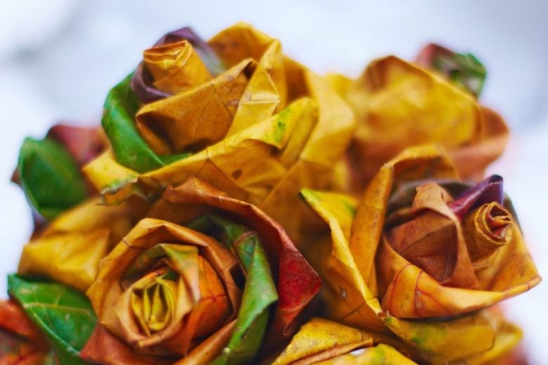 pyssel rosor av löv