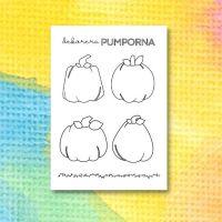 Halloweenmålarbild för att dekorera pumpor