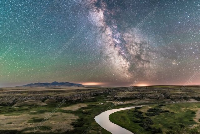 Milky Way over Canadian Prairie - Stock Image - C044/3003 - Science Photo  Library
