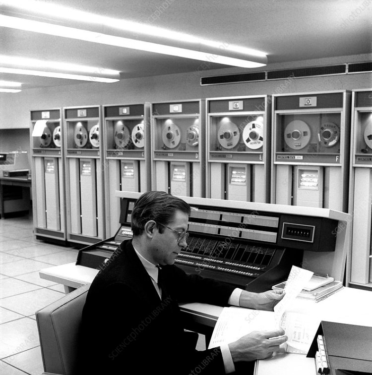 CDC 6600 computer, 1965 - Stock Image - T404/0151 ...