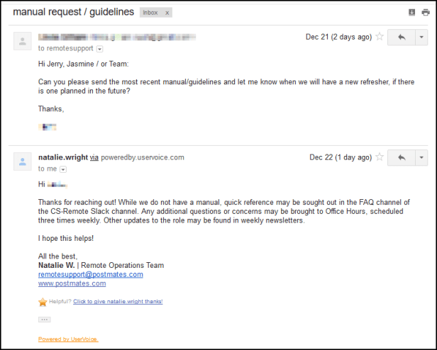 email manual request