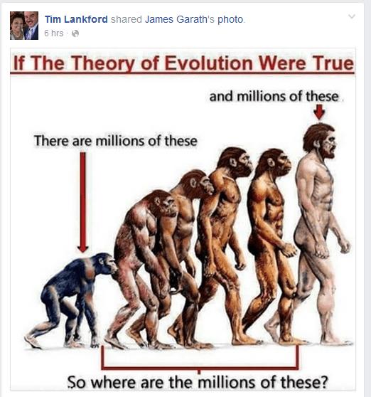 tim doesnt beleive in evolution
