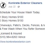 Business Beware: Konkrete Exterior Cleaners (aka Vence Barbee)
