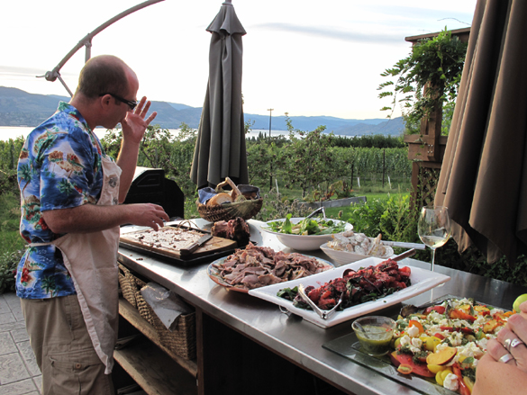 """Tableland"" filmmaker (and Heidi's brother) Craig Noble readies supper..."