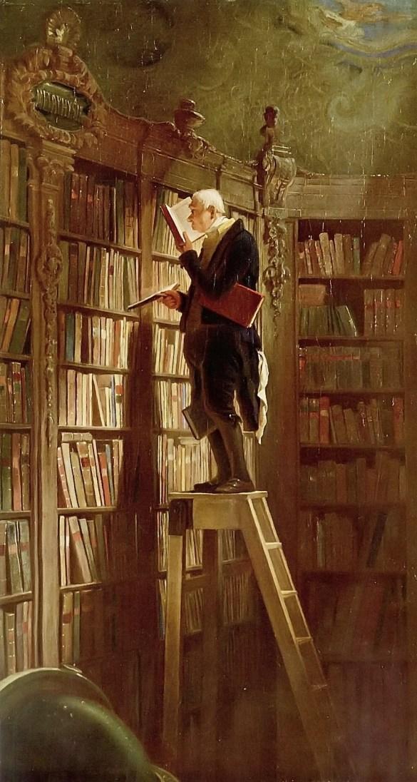 """Carl Spitzweg's """"The Bookworm"""" (1850)"""