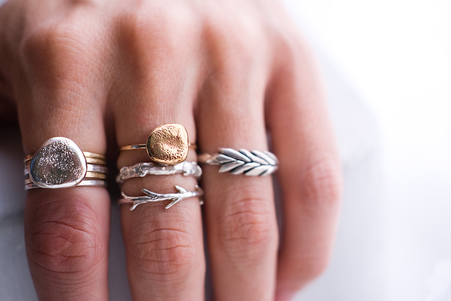 Cool Thing We Want #334: Hand Made Silver Branch And Twig Rings By ...