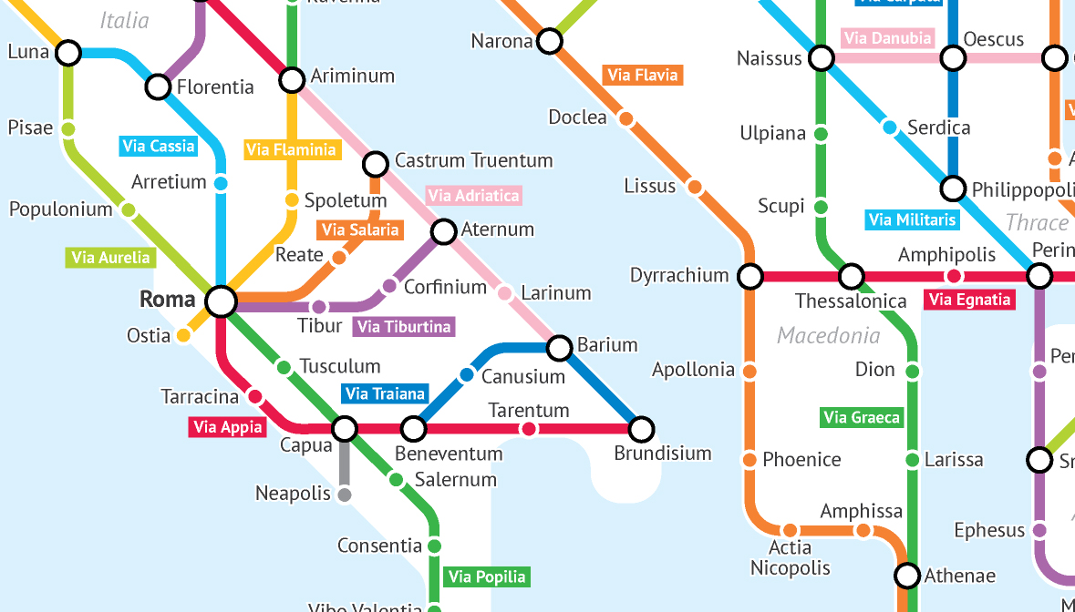 Ancient Rome Subway Map.The Roman Empire S Vast Road Network Imagined As A Subway Map