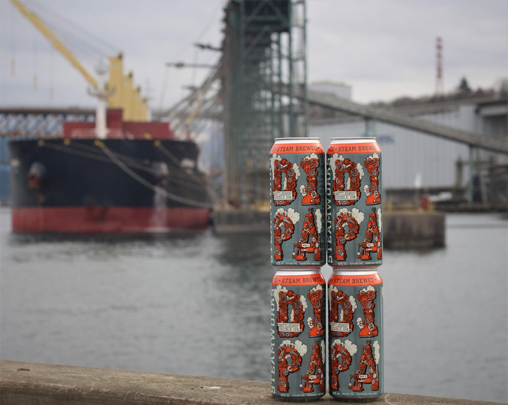Steamworks Battleship Double IPA Arriving Next Week